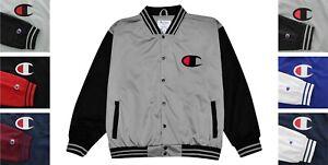 Champion Men's Varsity Track Jacket Big & Tall Snap Closure Pockets Script Logo