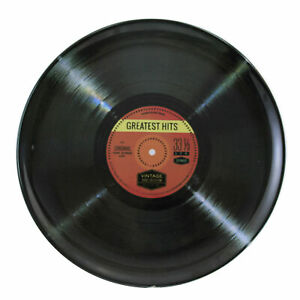 Tabletop Record Plate Melamine Greatest Hits 33 1/3 Rpm Sf0044