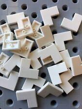 Lego White 1x2X2 Flat Corner Tiles Smooth Finishing Tile Floor Wall New 25pcs