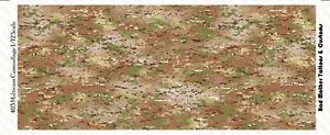 Camouflage Multicam Pattern Waterslide Decals for 1/12 scale action figures