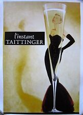 """Famous """"Taittinger Champagne"""" with Grace Kelly Poster on Linen"""
