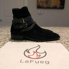 Men black suede chelsea boots With Chain Aldo Size 8 Amiri