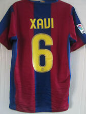 Barcelona 2007-2008 Home Xavi 6 Football Shirt Size Small /39401