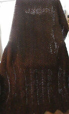 HANDMADE Adult size Burgundy Fleck Afghan