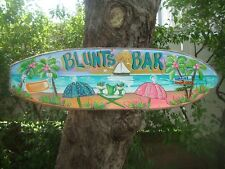 PERSONALIZED TROPICAL SURFBOARD ART DECORATIVE TIKI HUT BAR BATH BEACH SIGN