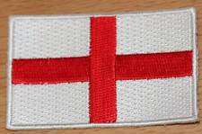 ST GEORGE ~ ENGLAND UK Country Flag Embroidered PATCH