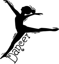 DANCER Vinyl Wall Decal Quote Words Lettering Sticker Girls Room Dance