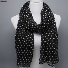 Fashion Black and White Dots Scarf Shawl Wraps
