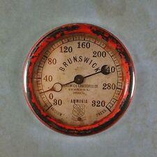 "Vintage Style Pressure Gauge Fridge Magnet 2 1/4"" Ammonia Steampunk Dieselpunk"