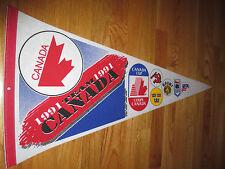 "1991 TEAM CANADA HOCKEY 30"" Pennant Wayne Gretzky BILL RANFORD MVP"
