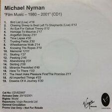 "michael nyman - ""Film Music 1980 - 2001"" Promo CD (CD1 only)"