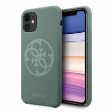 Genuine Guess Circle Silicone Impact Case Cover for Apple iPhone 11 in Green
