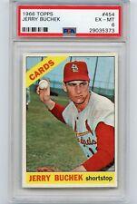 1966 TOPPS BASEBALL #454 JERRY BUCHEK, ST. LOUIS CARDINALS - PSA 6 EX-MT (35373)