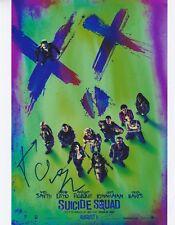 Jared Leto & David Ayer Signed SUICIDE SQUAD 10x8 Photo AFTAL OnlineCOA (B)