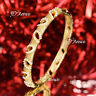 18K 18CT YELLOW GOLD FILLED OPENABLE LADY WOMENS BRACELET PEARL BANGLE