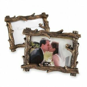 """Mini Twig Photo Frame / Place Card Holder 2"""" x 2.25"""" Wedding Party Table Setting"""