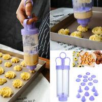 Cookie Biscuit Making Maker Pump Press Machine Decor Kitchen Mold Tools Set UK