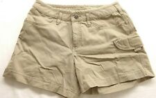 New The North Face Womens Active Hiking Cargo Pocket Khaki Casual Shorts Sz S