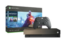 Xbox One X 1TB Gold Rush Special Edition Battlefield V Bundle Gray Gold
