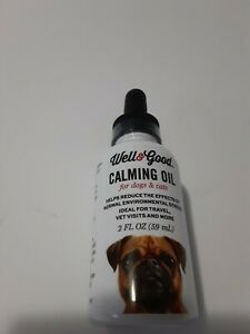 Well &Good Calming Oil For Dogs And Cats 2 Oz Fl.New .Reduces stress on pets.