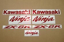 ZX6R Ninja chrome red burgundy bordeaux decals stickers graphics set adhesives