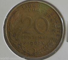 20 centimes marianne 1962 : TB : pièce de monnaie française