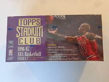 1996-97 Topps Stadium Club Basketball Jumbo Hobby Box Series 2- Rookie Showcase