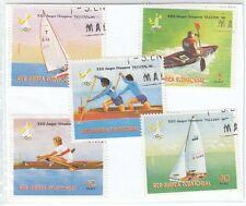 GUINEA ECUATORIAL - Bustina 5 francobolli serie SPORT ACQUATICI