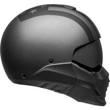 New Broozer Air Motorcycle Helmet Free Ride Matte Gray/Black