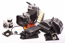 Super Technika III by Linhof with 3 lenses, 2 roll film back, 3 film holders ...