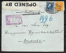 USA/China covers 1916 cens R-cover USA Agency Shanghai China/RD