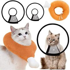 3 Pcs Set Cat Cone Collar And Soft Adjustable Cute Cat Recovery Donut Collar