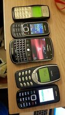 joblot 5× mobile phones  nokia ,blackberry 9000bold all power up and working
