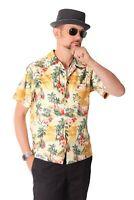 FINE49 retro Hawaii Palmen Island Hemd Rockabilly 50s Kahekili Hawaiian Shirt