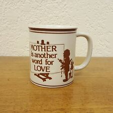 "Embossed "" Mother is Another Word for Love "" Ceramic Coffee Mug Tea Cup"