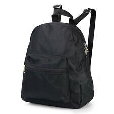 Black Small Mini Backpack Fashion School Travel Adjustable Shoulder Strap Bag