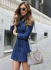 ZARA BLUE DENIM MINI DRESS WITH BUTTONS SS15 SIZE XS  SOLD OUT!!!