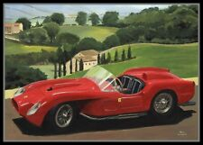 Print on canvas 1957 Ferrari 250 Testa Rossa by Toon Nagtegaal (LEF)