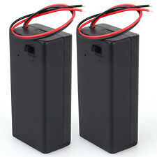 9V Volt PP3 Battery Holder Box DC Case w/ Wire Lead ON/OFF Switch Cover Durable
