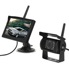 "Wireless Ir Night Vision Rear View Backup Camera & 5"" Car Monitor for RV Truck"