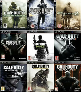 Call of Duty COD 4 Black Ops 2 Modern Warfare MW Ghosts PlayStation 3 Games PS3