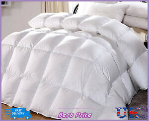 New Soft Warm Quality Duck Feather & Down 15 Tog Duvet Quilt All Sizes Available