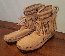 Minnetonka 297 Women's Hi Top Ankle Boots Tan Size 5