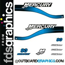 Mercury 90hp two stroke Saltwater series outboard graphics/sticker kit