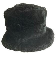 Old Navy Toddler Black Faux Fur Top Hat Cap 2T-4T
