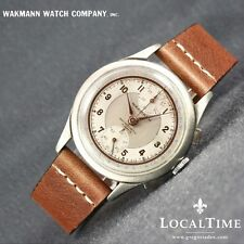 Early 1940's WAKMANN [Swiss] Oversize Vintage Dress Chronograph Venus Cal. 170