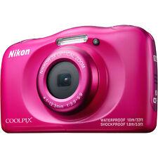 NIKON Coolpix W100 Digitalkamera, 13.2 Megapixel, 3x opt. Zoom, Pink