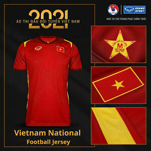 100% Authentic 2021 Vietnam National Football Soccer Team Jersey Shirt Red
