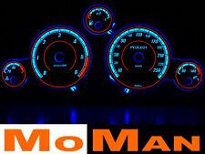 PEUGEOT 407 plasma tacho glow gauges reverse face el dials indiglo budiky clocks
