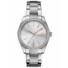 Lacoste 2001083 Damen Parisienne Silber Ton Armbanduhr